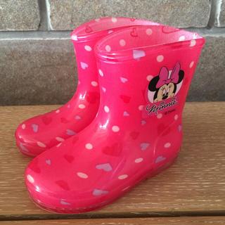 ディズニー(Disney)のディズニー ミニー レインブーツ 長靴 女の子 13センチ(長靴/レインシューズ)