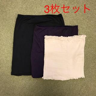 ムジルシリョウヒン(MUJI (無印良品))の[3枚セット] 薄手腹巻 レディース(マタニティ下着)