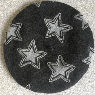 パピヨネ(PAPILLONNER)の【未使用】ルシャポー 星柄ベレー帽(ハンチング/ベレー帽)