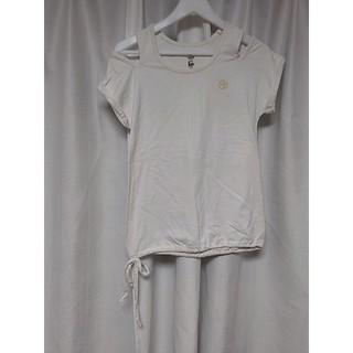 ズンバ(Zumba)のZUMBA ズンバ 肩あき Tシャツ ホワイト Sサイズ(Tシャツ(半袖/袖なし))