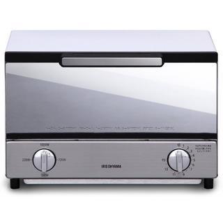 バカ売れ☆ オーブントースター トースト2枚 ミラー調(電子レンジ)
