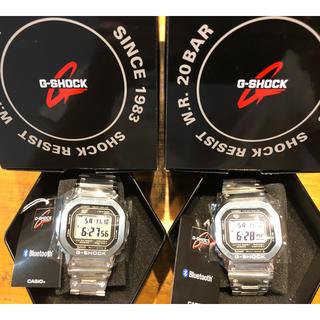 ジーショック(G-SHOCK)の2本セット CASIO カシオ G-SHOCK GMW-B5000D-1 銀(腕時計(デジタル))