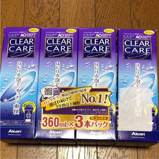 クリアクレア(clear crea)のコンタクト洗浄液 クリアケア   4本セット(アイケア / アイクリーム)