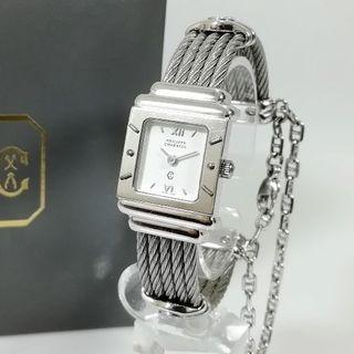シャリオール(CHARRIOL)の美品 フィリップ シャリオール ワイヤー ブレス 腕時計 925 NO47(腕時計)