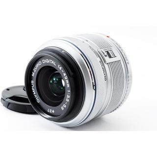 オリンパス(OLYMPUS)の☆コンパクトな標準レンズ☆M.ZUIKO 14-42mm II R シルバー(レンズ(ズーム))