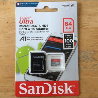 サンディスク(SanDisk)のSanDisk microSD 64GB アダプター付 海外パッケージ品(その他)