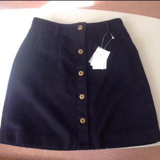 マーキュリーデュオ(MERCURYDUO)のネイビー台形スカート(ミニスカート)