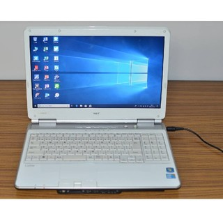 エヌイーシー(NEC)のWin10+office NEC LL350/W 高速 i3/750GB/4GB(ノートPC)