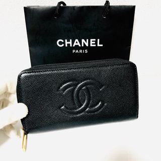 シャネル(CHANEL)の527❤️超極美品❤️最新❤️シャネル❤️ジップ 財布❤️正規品鑑定済み❤️(財布)