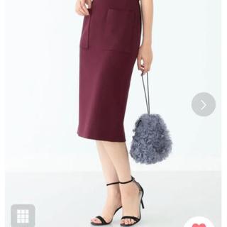 デミルクスビームス(Demi-Luxe BEAMS)のDemi-Luxe BEAMS / ポケット付 スリットタイトスカート(ひざ丈スカート)