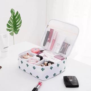 メイクボックス コスメボックス 旅行ポーチ 化粧道具 小物収納メイクポーチ北欧風(ケース/ボックス)