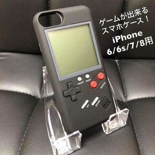 ブラック GAME iPhone ケース ゲーム付きスマホケース 大人気✨(iPhoneケース)