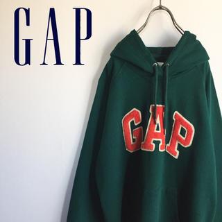 ギャップ(GAP)の古着 GAP ギャップ ビッグロゴ スウェット プルオーバーパーカー(パーカー)