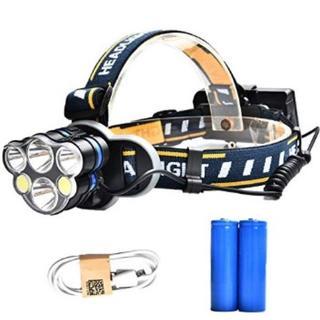 ★即日発送★ 史上最強 12000ルーメン ヘッドライト 防水 USB 電池付属(ライト/ランタン)