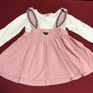 シマムラ(しまむら)のベビー 長袖 2枚セット ワンピース 80 (ワンピース)