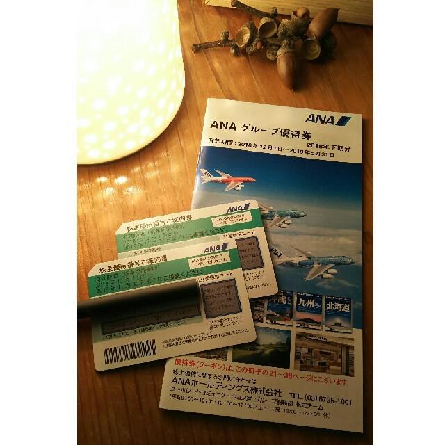 ANA(全日本空輸)(エーエヌエー(ゼンニッポンクウユ))のANA 株主優待券 2枚 + グレープ優待券冊子付 チケットの優待券/割引券(その他)の商品写真