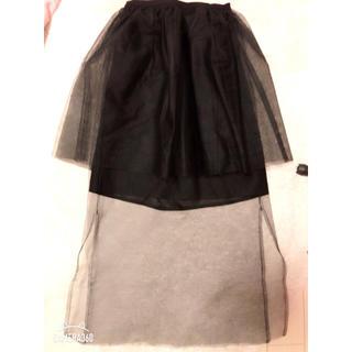 ハニーミーハニー(Honey mi Honey)のハニーミーハニー ♡チュールペプラムスカート(ミニスカート)