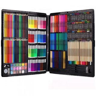 ★送料無料★絵具セット 258本 (色鉛筆、水彩絵具、クレヨン、固形水彩)(色鉛筆 )