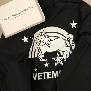 VETEMENTS Unicorn hooded raincoat(レインコート)