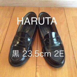 ハルタ(HARUTA)の‼️2500円‼️HARUTA ローファー 黒 23.5cm 2E(ローファー/革靴)