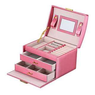 ジュエリーボックス ミラー付で大容量♡ ピンク(ケース/ボックス)