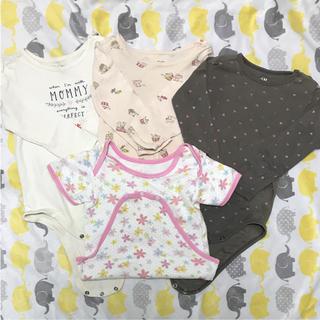 ベビーギャップ(babyGAP)の90㎝ ベビーロンパース 下着 女の子 Tシャツ 4枚セット(下着)