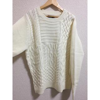 コムサコミューン(COMME CA COMMUNE)の柄編みニット・セーター(ニット/セーター)