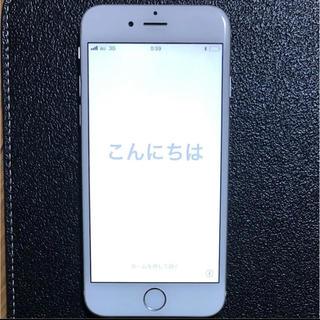 アップル(Apple)の美品 iPhone 6 Silver 16 GB au 判定○ ③(携帯電話本体)
