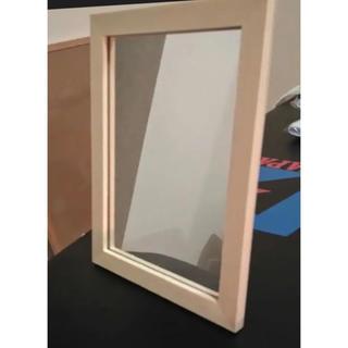 木製スタンドミラー 天然木 鏡 ウッド ナチュラル(スタンドミラー)