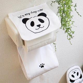 ★パンダ ☆ トイレットペーパーホルダー(トイレ収納)