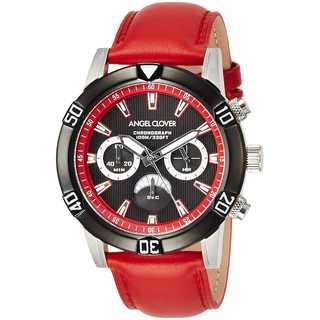 138.エンジェルクローバー  腕時計 Brio ブラック文字盤 レッド(レザーベルト)