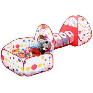 折り畳み式 子供用テント プール プレイトンネルを組み合わせた室内遊具(ベビージム)