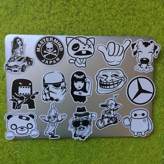 Stickers 62 枚 Black and white ,mix ステッカー(ステッカー)