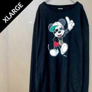 エクストララージ(XLARGE)のエクストララージ x ディズニー ビッグロゴカットソー スウェット トレーナー(Tシャツ/カットソー(七分/長袖))