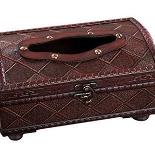 アンティーク調 木製 ティッシュ ボックス (ティッシュボックス)