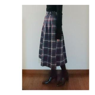 ザスコッチハウス(THE SCOTCH HOUSE)のThe Scotch House チェック柄スカート 小さいサイズ(ロングスカート)