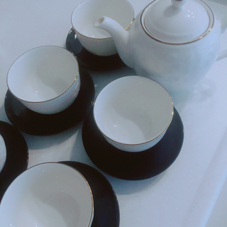 サンローラン(Saint Laurent)のイブサンローラン 急須 湯呑みセット 茶器セット 紅茶 ティーポット カップ(グラス/カップ)