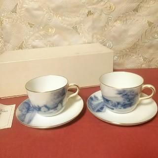 オオクラトウエン(大倉陶園)の大倉陶園 カップ&ソーサー 2客 風景画 未使用(食器)