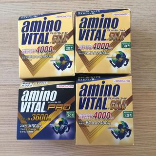 アジノモト(味の素)の送料込み アミノバイタルゴールド プロ 4箱セット(アミノ酸)