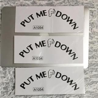 3枚 PUT ME DOWN トイレ マナーウォールステッカー Stickers(ステッカー)