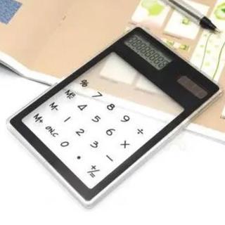 電卓(ブラック)スケルトン ソーラータイプ【新品】(オフィス用品一般)