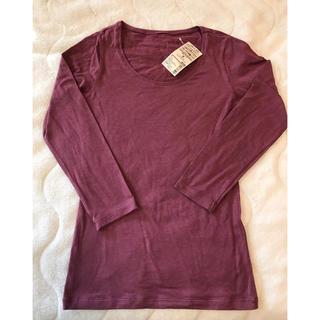 ムジルシリョウヒン(MUJI (無印良品))の新品 無印良品 Uネック 八分袖シャツ M 温度調節機能有り ワイン(アンダーシャツ/防寒インナー)