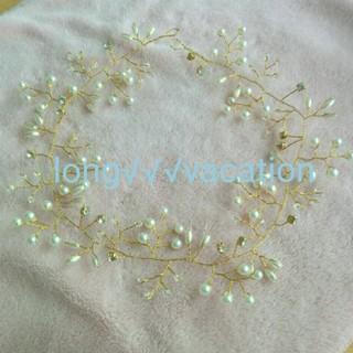 最安値♡ 小枝 パールクリスタル ヘッドドレス(ヘッドドレス/ドレス)
