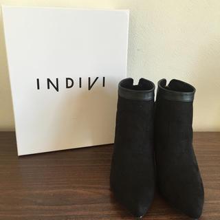 インディヴィ(INDIVI)の新品タグ付☆INDIVI☆ショートブーツ☆バックジップブーツ☆25cm(ブーツ)