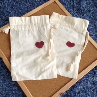 ムジルシリョウヒン(MUJI (無印良品))の未使用*♡マーク巾着(ポーチ)