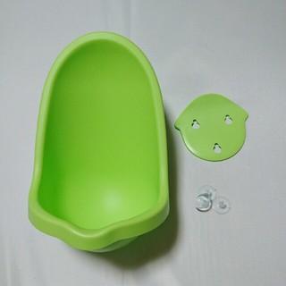 男の子用おまる グリーン おまる トイレトレーニング オムツ外し練習 小便器 (ベビーおまる)