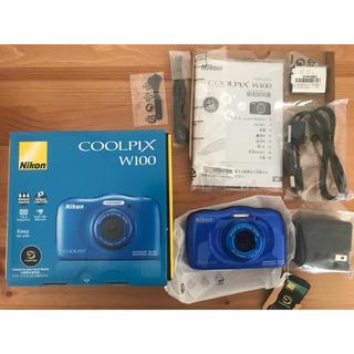 ニコン(Nikon)のデジカメ  新品未使用  Nikon クールピクス  w100  防水(コンパクトデジタルカメラ)