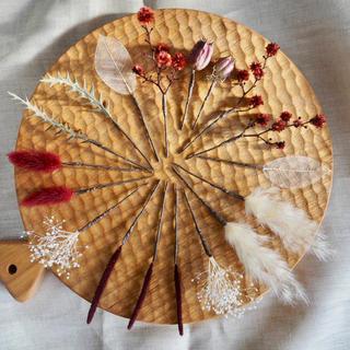記念日を彩るドライフラワー ヘッドドレス ボルドー(ヘッドドレス/ドレス)