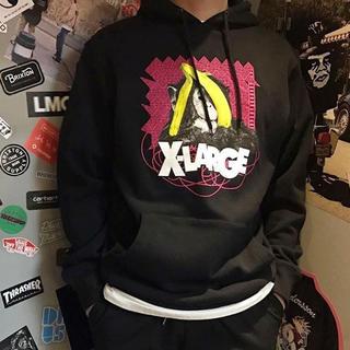 エクストララージ(XLARGE)の【新品】XLARGE エクストララージ パーカー 黒 Sサイズ フーディー(パーカー)