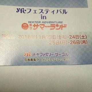 速達11月23.24.25.26日 サマーランド 入園無料五名まで  特別招待券(プール)